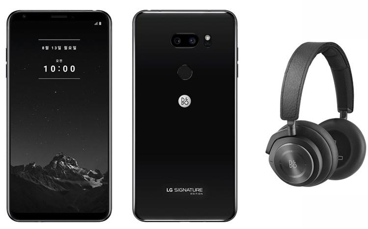 В комплект смартфона LG Signature Edition 2018 входят наушники B&O Beoplay H9i
