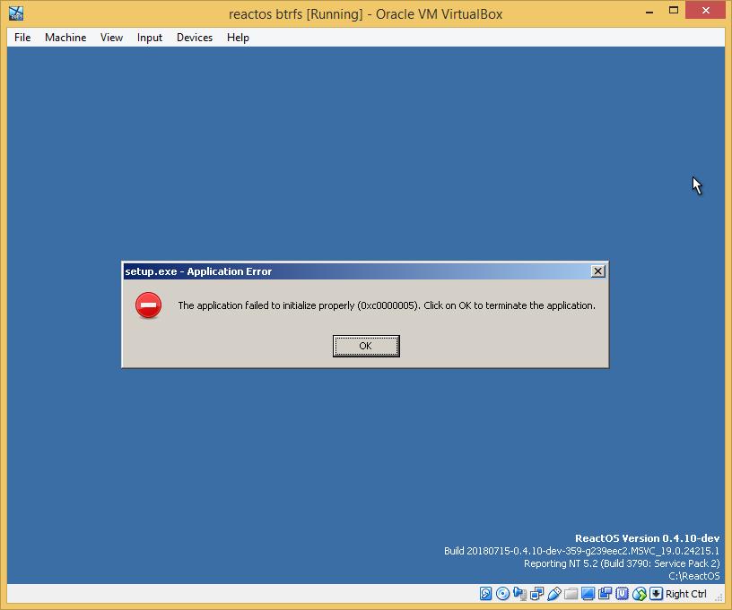 ReactOS теперь запускается с BTRFS раздела - 3