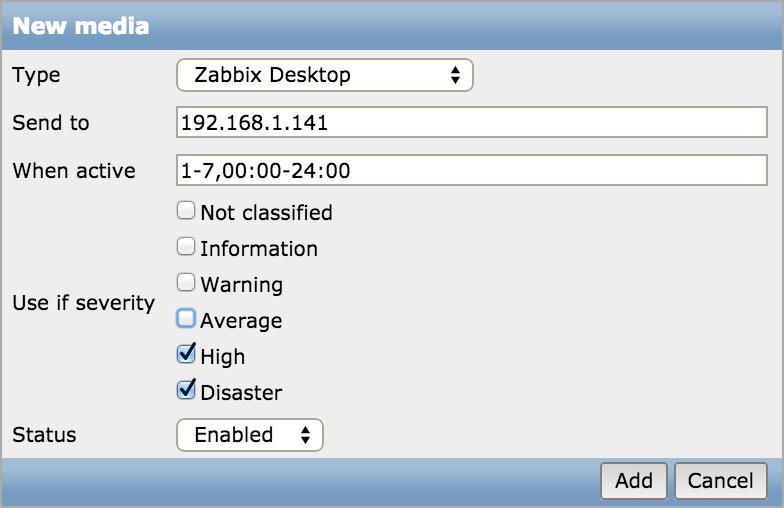 Как научить Zabbix отправлять уведомления о проблемах прямо на рабочий стол - 3