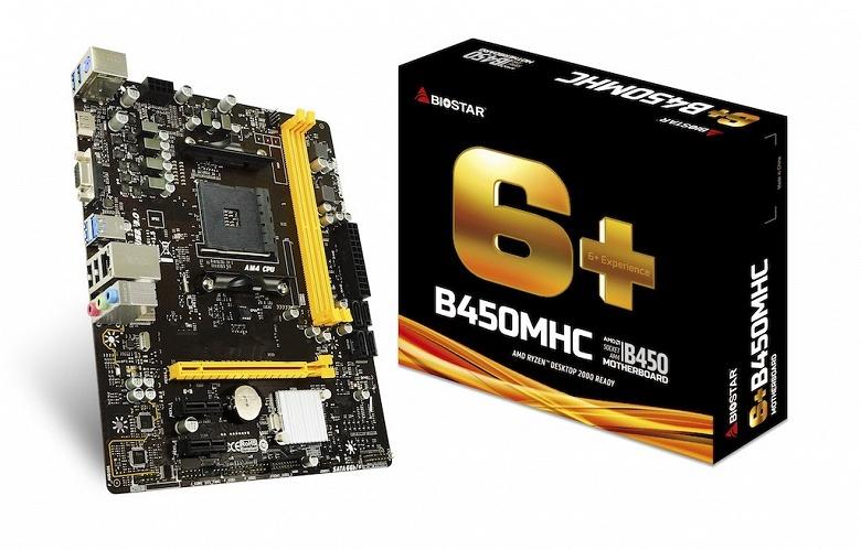 Плата Biostar B450MHC на новом чипсете AMD стоит 60 долларов