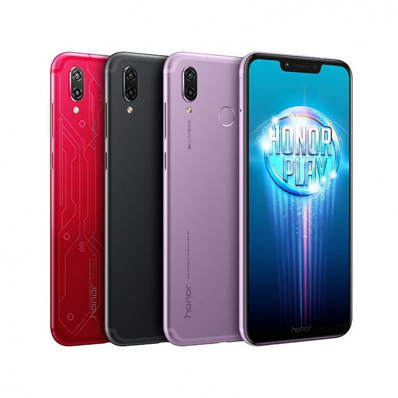 Смартфон Honor Play выйдет в России 10 августа, объявлена цена