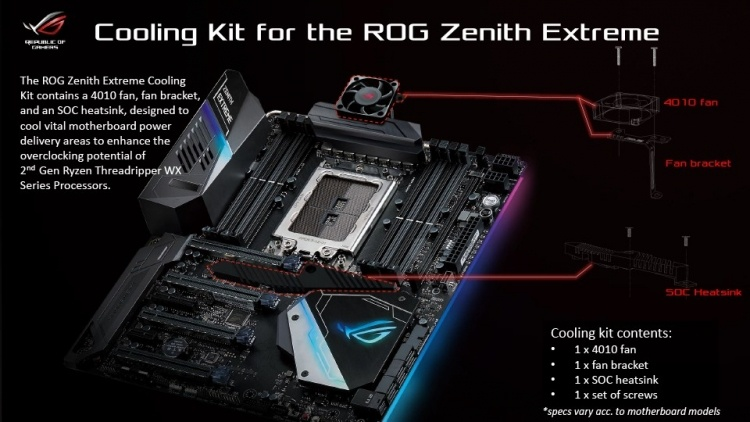 ASUS выпустит комплекты для апгрейда плат на X399 под процессоры Ryzen Threadripper 2000