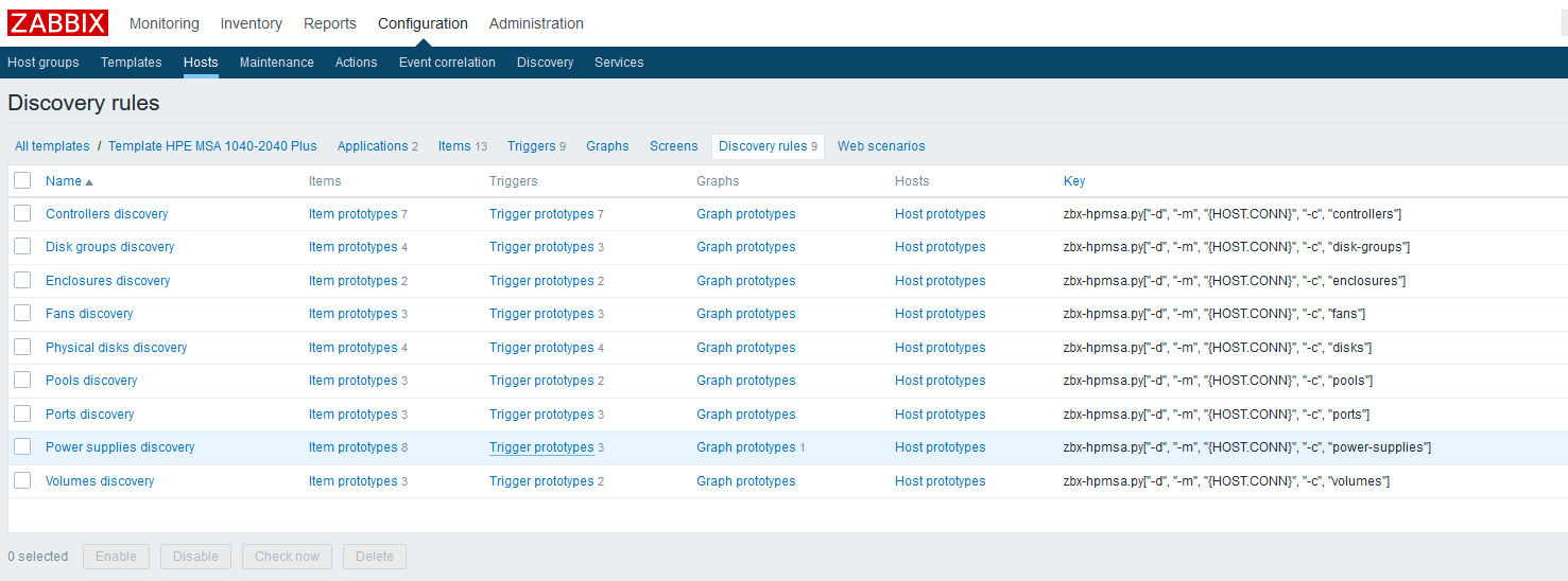 Использование Dependent items в Zabbix 4.0 на примере HPE MSA 2040-2050 - 8
