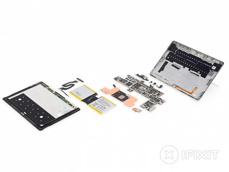Ремонтопригодность планшета Microsoft Surface Go близка к нулю