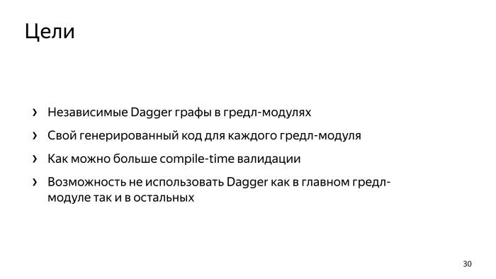 Многомодульность и Dagger 2. Лекция Яндекса - 21