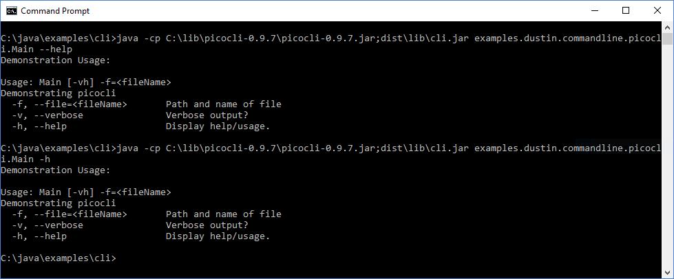 Интерфейсы командной строки Java: picocli - 6