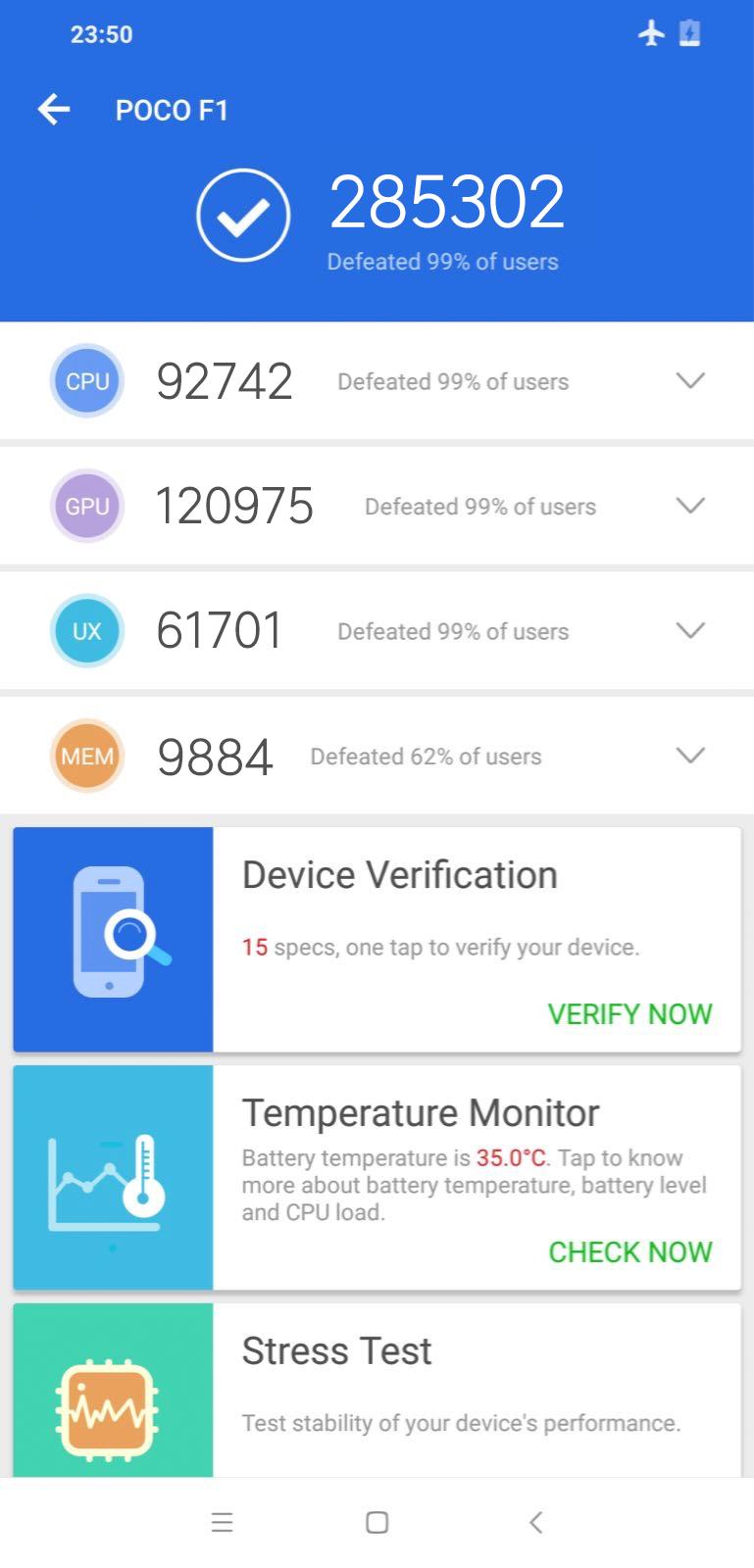 Смартфон Xiaomi Pocophone F1 набирает в AnTuTu более 285 000 баллов