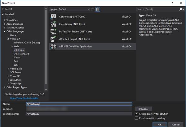 Создаем простой API-шлюз в ASP.NET Core - 2