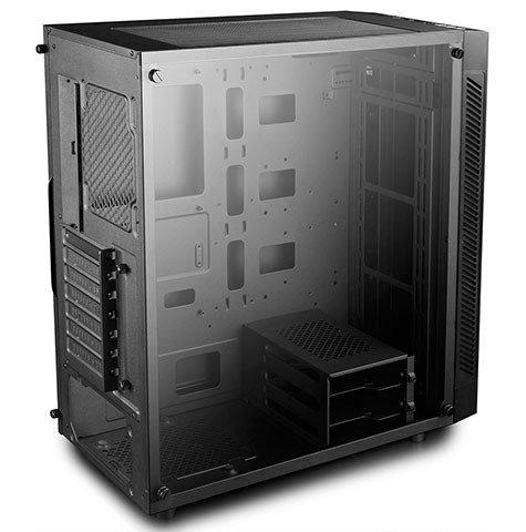В корпусе DeepCool Matrexx 55 с панелями из закаленного стекла помещаются платы E-ATX