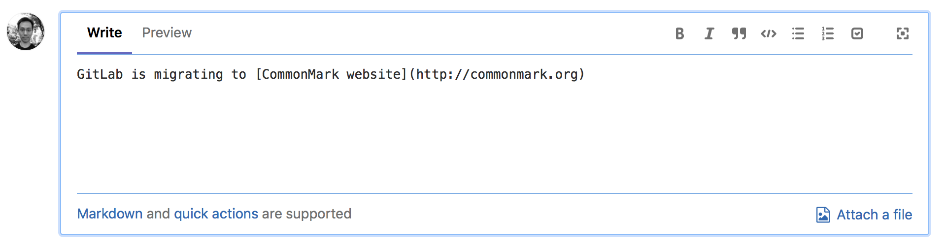 GitLab Flavored Markdown with CommonMark