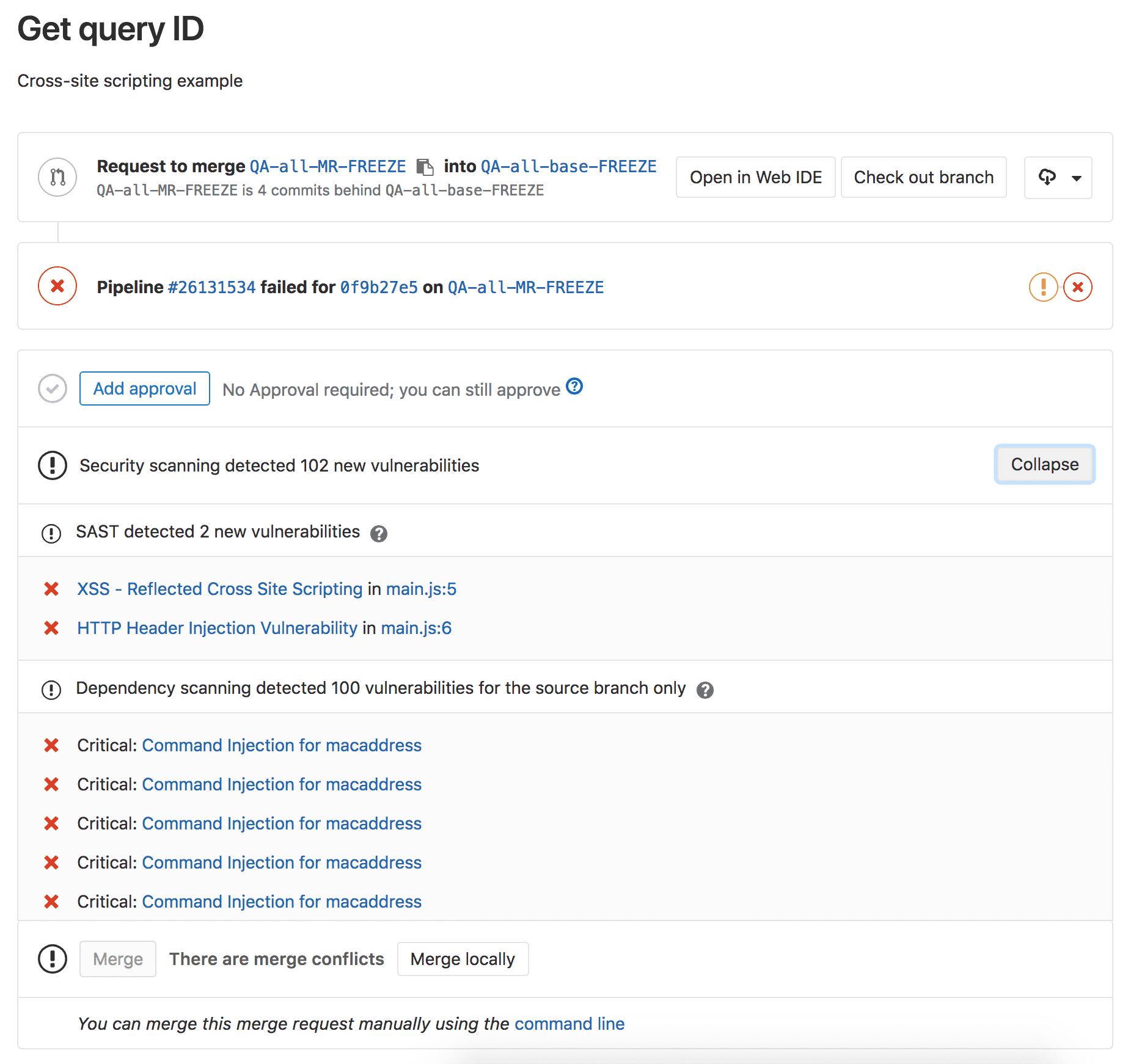 SAST support for Node.js