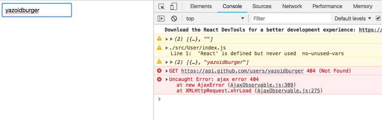 Как сделать поиск пользователей по GitHub используя React + RxJS 6 + Recompose - 9