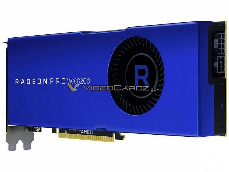 Появились изображения 3D-карты AMD Radeon PRO WX 8200