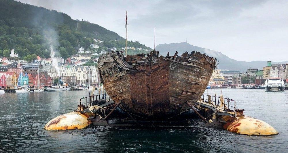 Спустя 100 лет исследовательское судно Амундсена вернулось в Норвегию