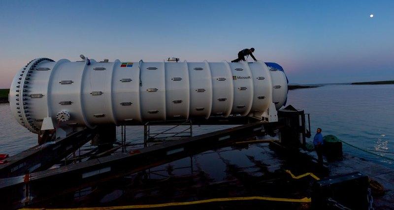 Microsoft ведет трансляцию с камер подводного дата-центра