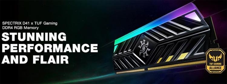 XPG Spectrix D41 TUF Gaming Edition: эффектные модули памяти DDR4