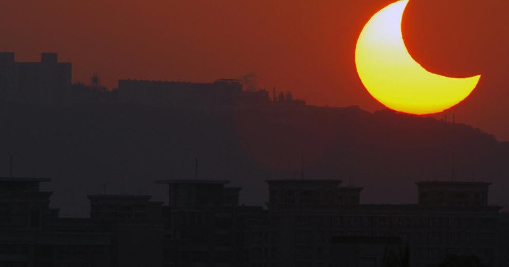 В субботу произойдет частное солнечное затмение