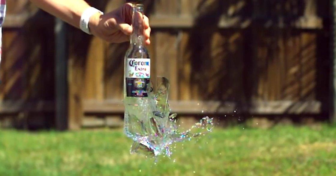 Как разбить бутылку голыми руками?