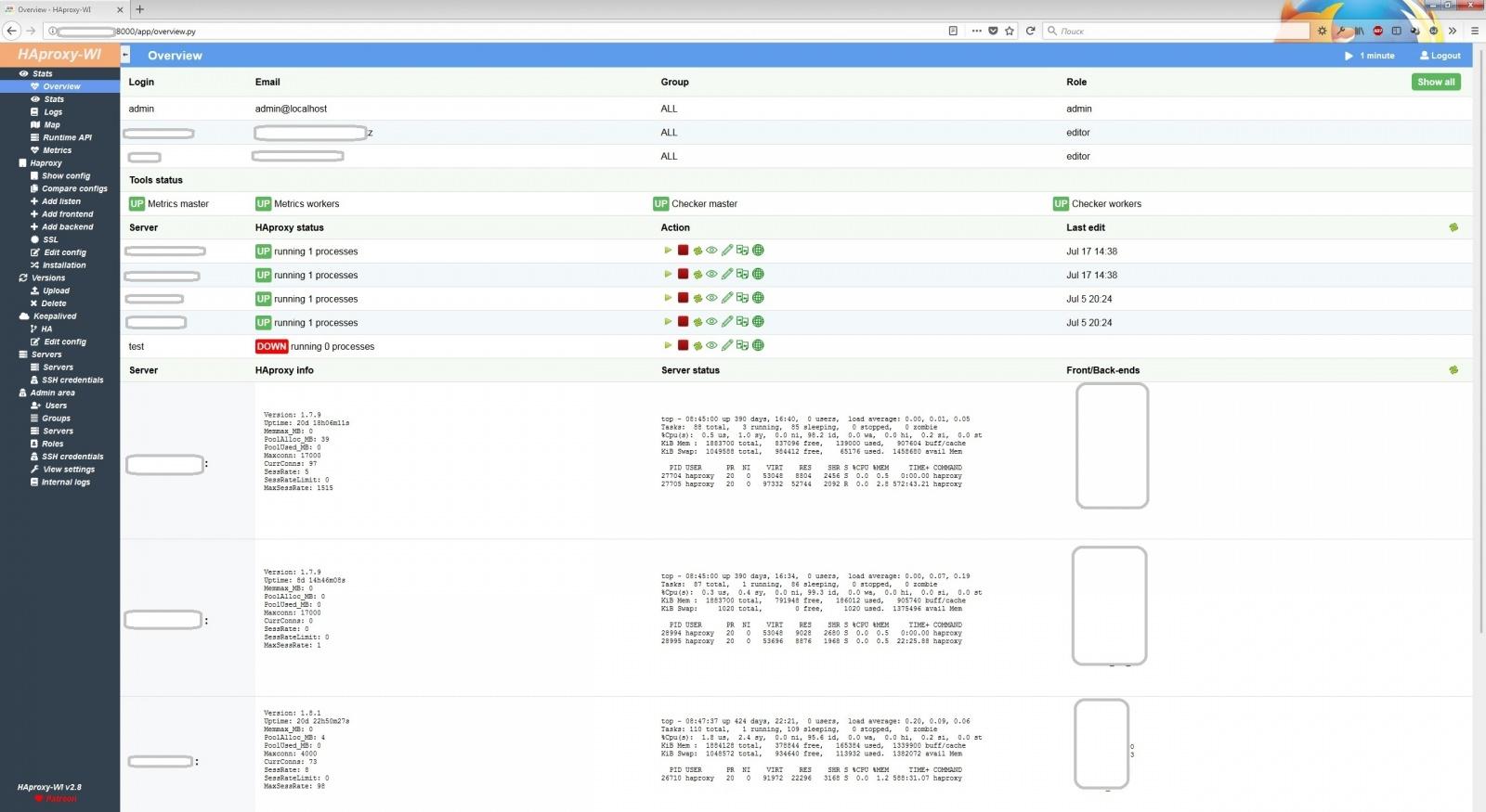 Как случайно написать Web-GUI для Haproxy - 1