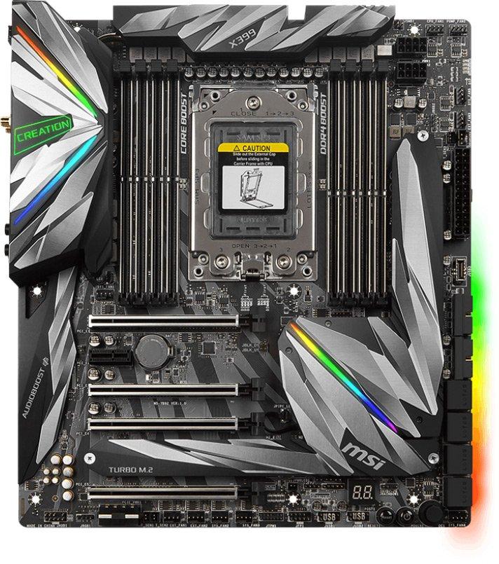 Системная плата MSI MEG X399 Creation оснащена 19-фазной подсистемой питания