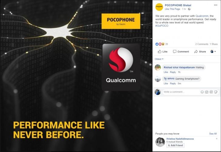 Xiaomi Pocophone F1 станет самым дешевым смартфоном с SoC Snapdragon 845