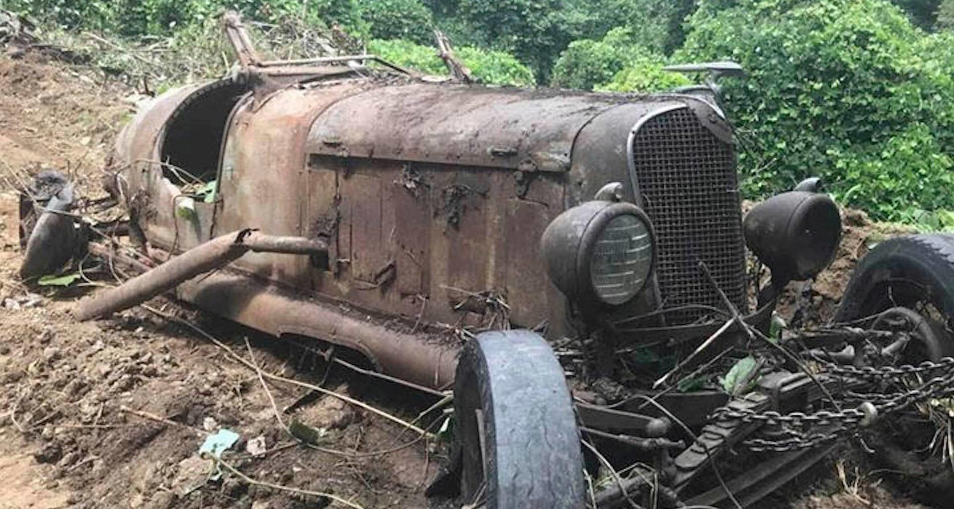 В США при сносе здания нашли автомобили 1930-х годов