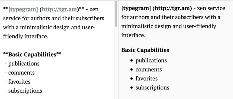Typegram — дзэн блог платформа - 6