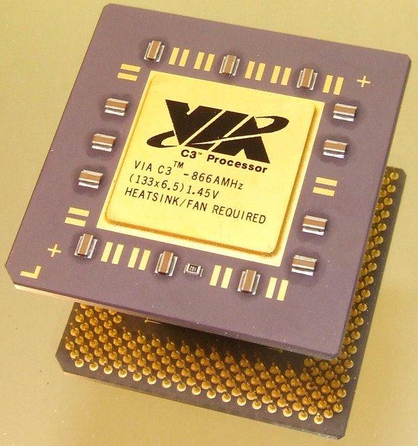 Процессоры VIA C3 можно взломать простой командной строкой