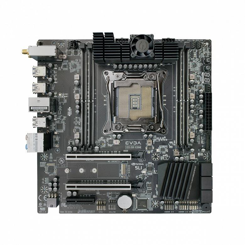 Системная плата EVGA X299 Micro ATX 2 оснащена 14-фазной подсистемой питания