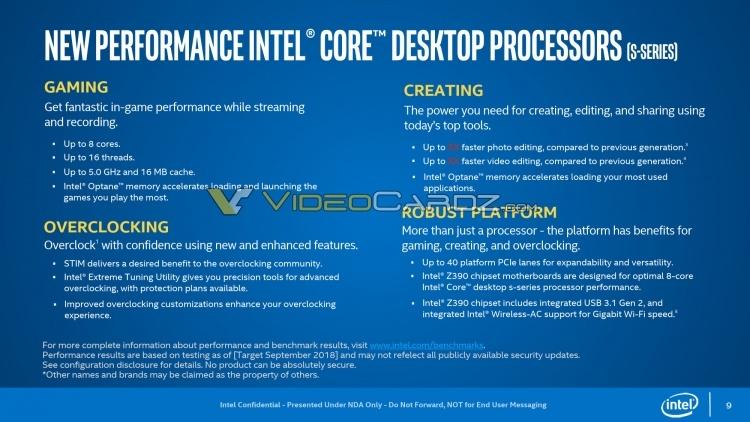 Intel Core i9-9900K: наличие припоя подтверждено