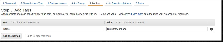 Имя на странице Add Tags