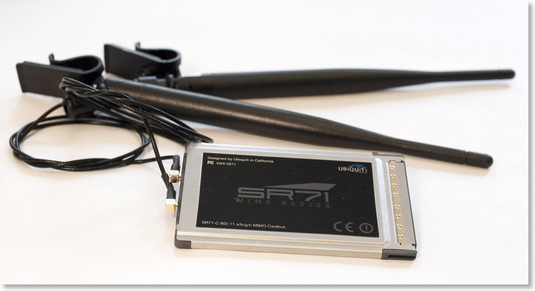 Wi-Fi-адаптер CardBus с внешним антеннами