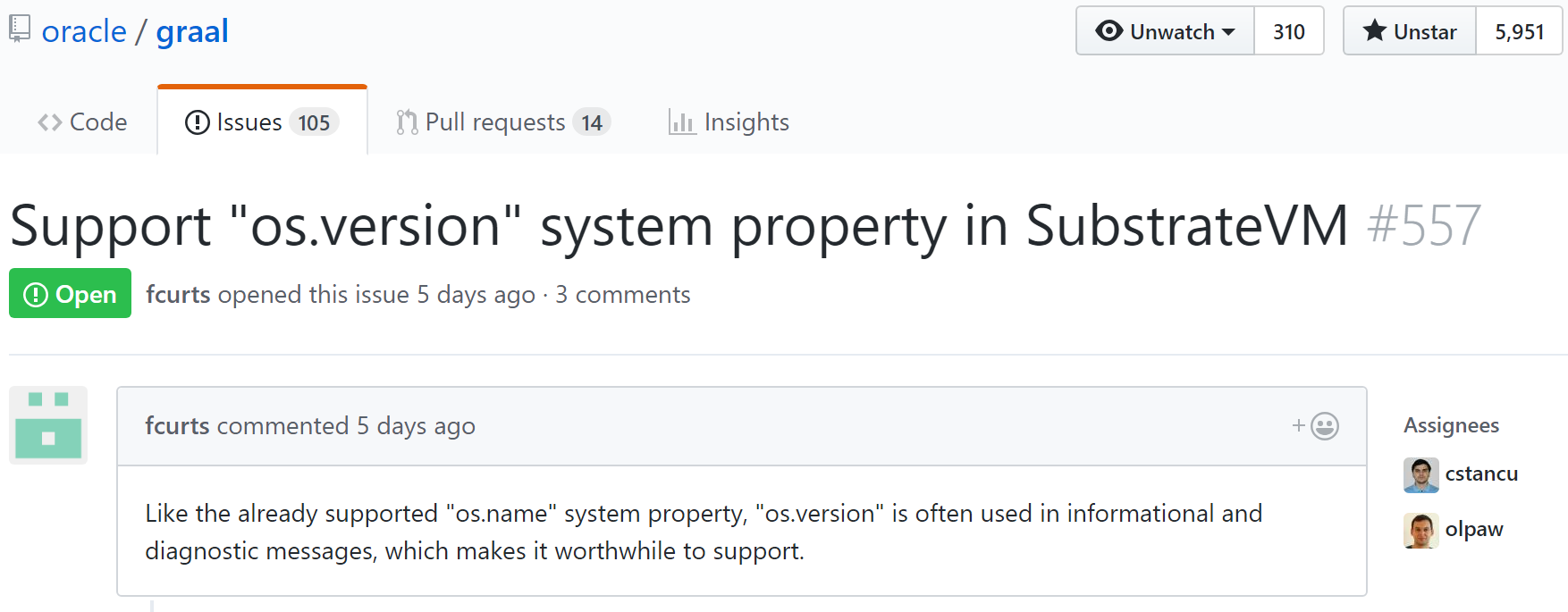 [Javawatch Live] История одного pull request. `os.version` в SubstrateVM - 1