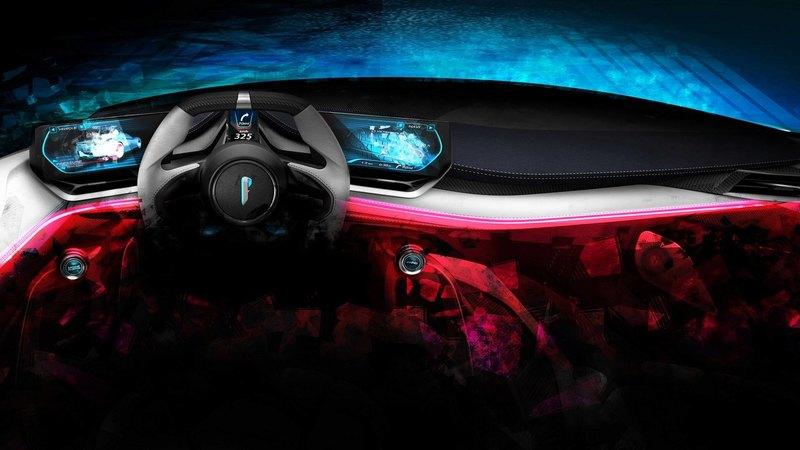 Электрический гиперкар Pininfarina: изображения интерьера