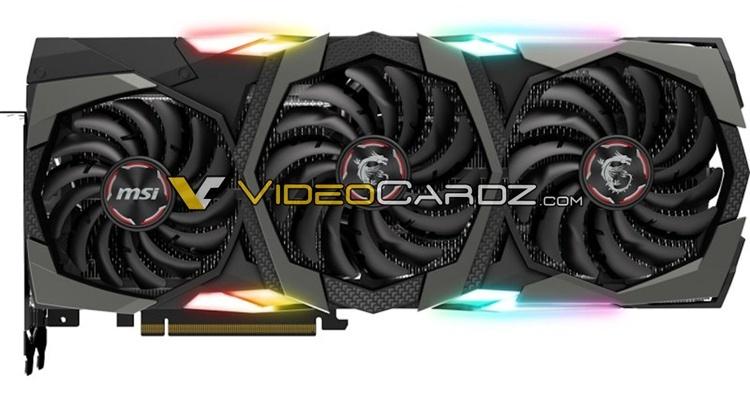 Фото дня: ускоритель MSI GeForce RTX 2080 Ti Gaming X Trio с коннектором VirtualLink