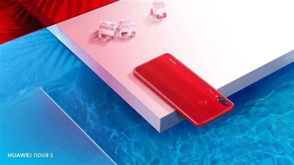 Продано более 2 млн смартфонов Huawei Nova 3, новая версия Acacia Red вышла сегодня