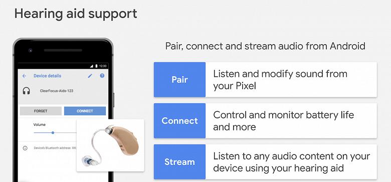 В Android появилась встроенная поддержка слуховых аппаратов