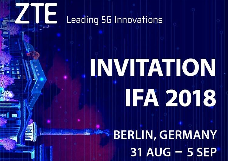 ZTE представит новинки на выставке IFA 2018