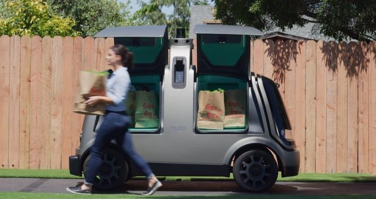 В Аризоне начали доставку продуктов самоуправляемыми автомобилями