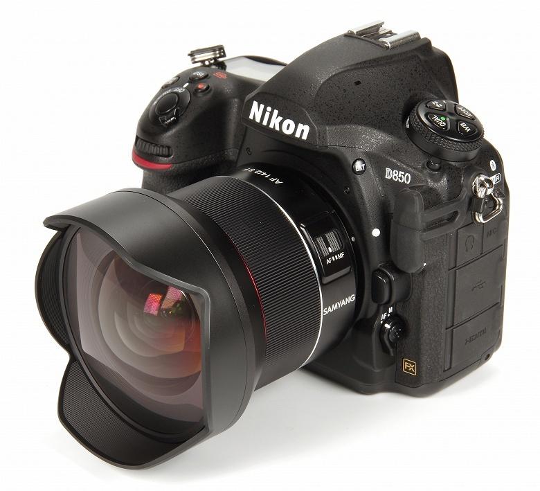 Полнокадровый объектив Samyang AF 14mm F2.8 F с креплением Nikon F оснащен приводом автоматической фокусировки
