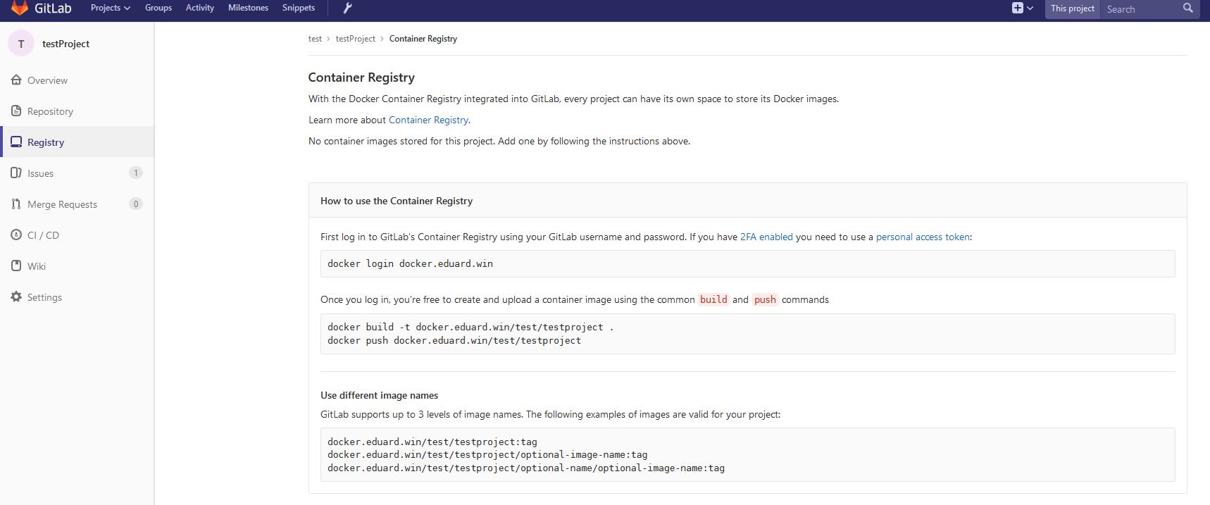 GitLab для Continuous Delivery проекта на технологиях InterSystems: Контейнеры - 5