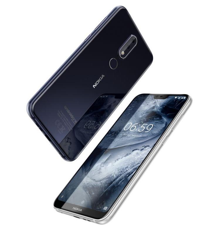 Nokia 6.1 Plus и Nokia 5.1 Plus: безрамочные смартфоны на платформе Android One