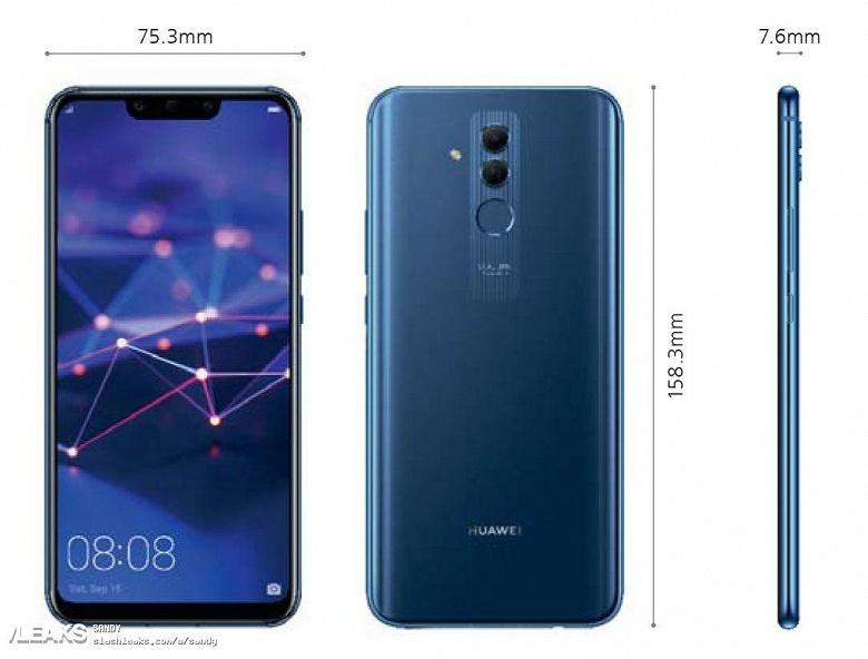 Появились новые рендеры смартфона Huawei Mate 20 Lite - 2