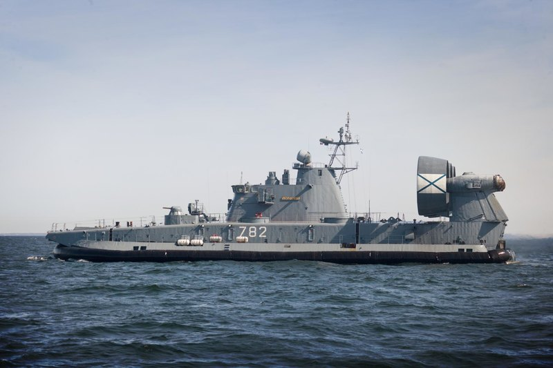 Самый большой десантный корабль на воздушной подушке