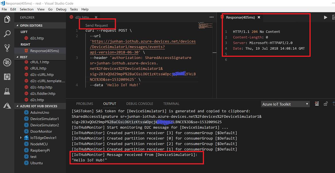 Использование VS Code для вызова REST API в Azure IoT Hub [+ полезные материалы] - 3