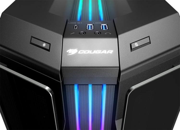 Корпус Cougar Gemini T: закалённое стекло и RGB-подсветка