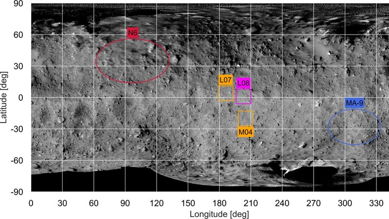 Определено место приземления зонда MASCOT на астероид Рюгу