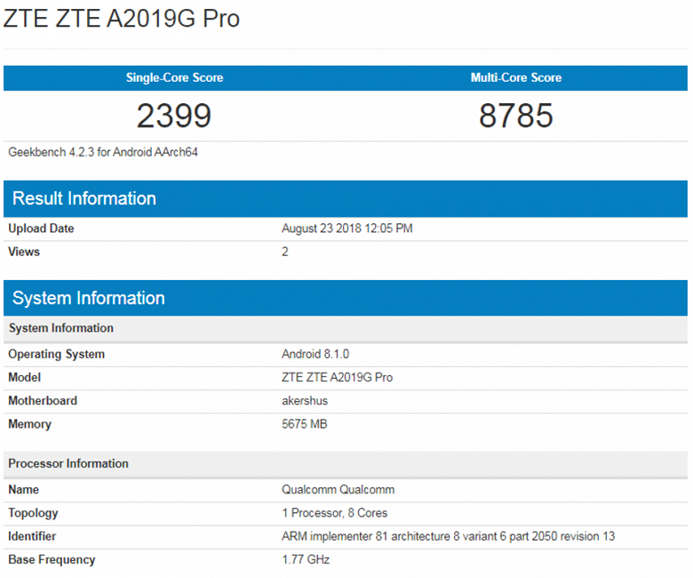 Смартфон ZTE Axon 9 Pro показал впечатляющие результаты в бенчмарке - 2