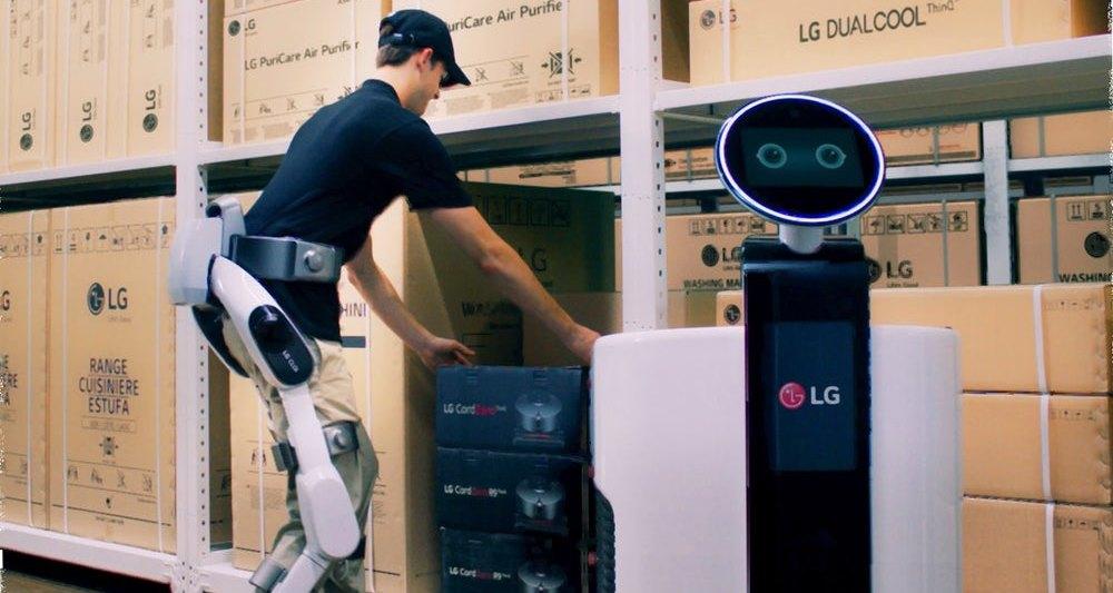 LG разработала роботизированный экзоскелет