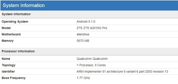 Мощный смартфон ZTE Axon 9 Pro «засветился» в бенчмарке